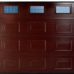 Georgian Panelled Glazed Smoothfoil Garage Doors