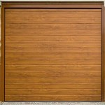 Horizontal Golden Oak Rib Garage Doors
