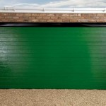 Large Rib Moss Green Garage Doors