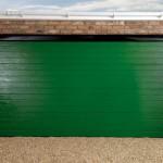 Large Rib Moss Green Garage Doors