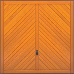 Chevron Timber Garage Doors from City Garage Doors