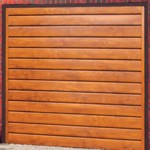 Europa Steel Up and Over Golden Oak Finished Garage Doors