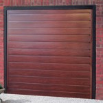 Europa Steel Rosewood Finished Up and Over Garage Doors