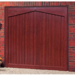 Gatcombe Steel Rosewood Finished Up and Over Garage Doors