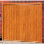 Gemini Steel Up and Over Golden Oak Finished Garage Doors