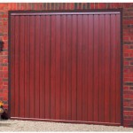 Gemini Steel Rosewood Finished Up and Over Garage Doors