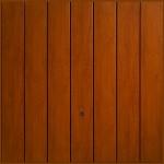 Vertical Golden Oak Garage Doors from City Garage Doors