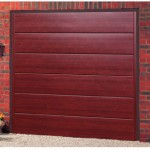 Haven Steel Rosewood Finished Up and Over Garage Doors