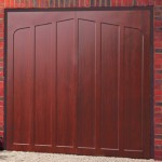 Jacobean Steel Rosewood Finished Up and Over Garage Doors