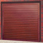 Orion Horizontal Steel Rosewood Finished Up and Over Garage Doors