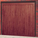Orion Vertical Steel Rosewood Finished Up and Over Garage Doors
