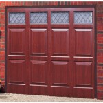 Sheraton Glazed Steel Rosewood Finished Up and Over Garage Doors