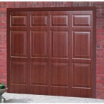 Sheraton Steel Rosewood Finished Up and Over Garage Doors