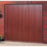 Vogue Steel Rosewood Finished Up and Over Garage Doors