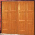 Brompton Steel Up and Over Golden Oak Finished Garage Doors
