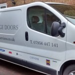 City Garage Doors Van from City Garage Doors Dronfield Derbyshire UK